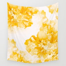 Beautiful Peony Flowers White Background #decor #society6 #buyart Wall Tapestry