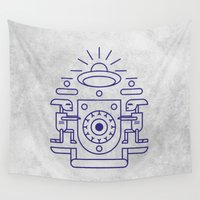 ufo Wall Tapestries featuring UFO Watchers by Agu Luque