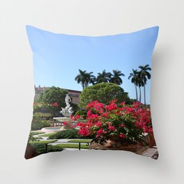 Bougainvillea Row Throw Pillow