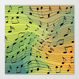 Music notes II Canvas Print