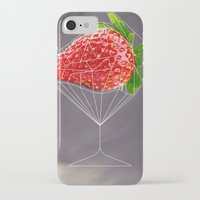 cocktail iPhone & iPod Cases featuring Strawberry cocktail  by Nobra