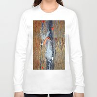 swimming Long Sleeve T-shirts featuring swimming by  Agostino Lo Coco