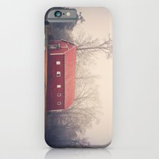 Little Red Barn in the Fog Slim Case iPhone 6s