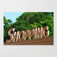 shopping Canvas Prints featuring Shopping by Ink and Paint Studio
