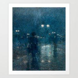 Fifth Avenue Nocturne by Childe Hassam Art Print