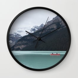 Lake Louise Quiet and Peace Wall Clock