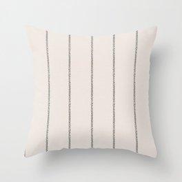 French Cream Linen Stripe Throw Pillow