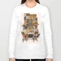 lab Long Sleeve T-shirts featuring Radio Lab by Bony Fingers