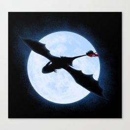 Full Moon Dragon Canvas Print