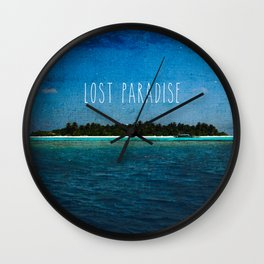 Lost Paradise Wall Clock