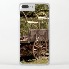 Uncovered Wagon Clear iPhone Case