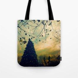 Christmas Tree at Dusk Tote Bag