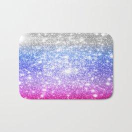 Galaxy Sparkle Stars Periwinkle Pink Bath Mat