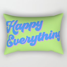 Happy Everything in Lime Rectangular Pillow
