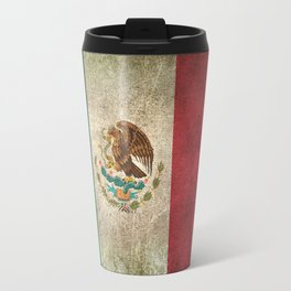 Old and Worn Distressed Vintage Flag of Mexico Travel Mug