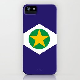 flag of mato grosso iPhone Case