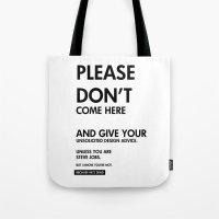steve jobs Tote Bags featuring Steve Jobs by Rothko
