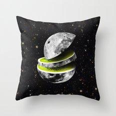 Kiwi Moon Throw Pillow