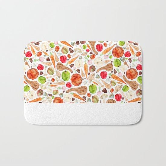 Fruit and Vegetables  Bath Mat