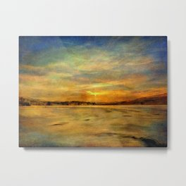 Winter Thaw at the Bashakill Metal Print