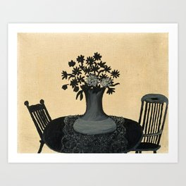 Chairs by Horace Pippin, 1946 Art Print