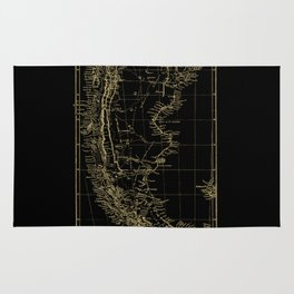 Patagonia - Black and Gold Rug
