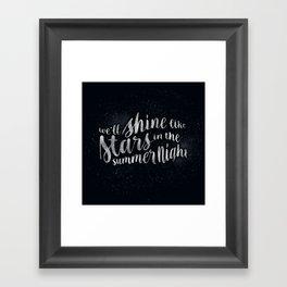 Shine Like Stars - Summer Framed Art Print