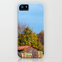 Concept nature : Wood for winter iPhone Case