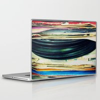 sand Laptop & iPad Skins featuring put your records on by Bianca Green