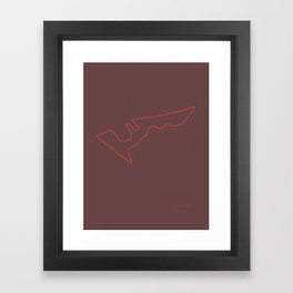F1 Circuit Infographic- Circuit of the Americas, Austin, Texas Framed Art Print