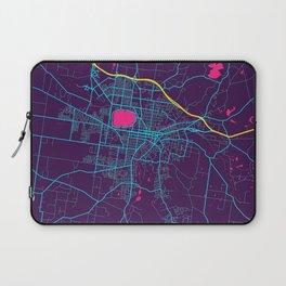 Ballarat Neon City Map, Ballarat Minimalist City Map Art Print Laptop Sleeve
