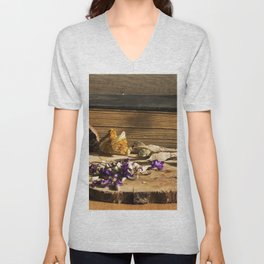 dry flowers and plants Unisex V-Neck
