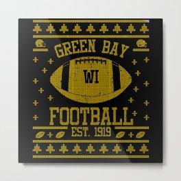 Green Bay Football Fan Gift Present Idea Metal Print
