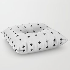 Black Plus on White /// www.pencilmeinstationery.com Floor Pillow