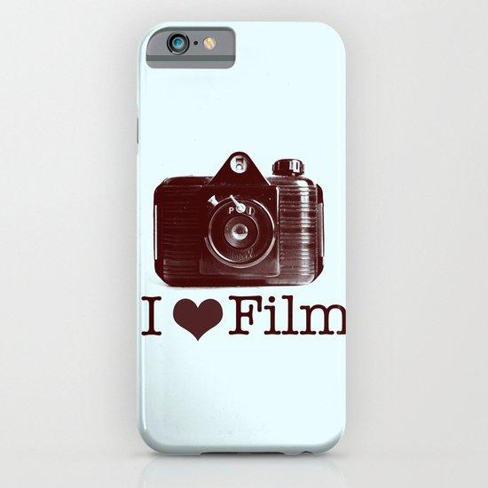 I ♥ Film (Maroon/Aqua) iPhone & iPod Case