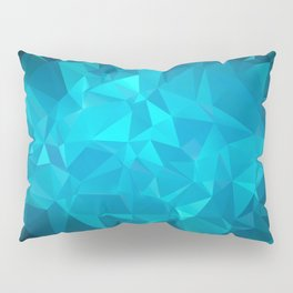 Blue Polygonal Mosaic Pillow Sham
