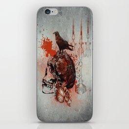 Skull and Crow Tattoo iPhone Skin
