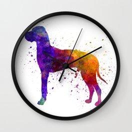 Great Dane 01 in watercolor Wall Clock