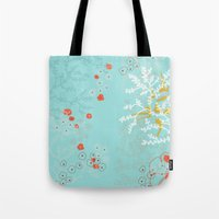 under the sea Tote Bags featuring Under the Sea by Simi Design