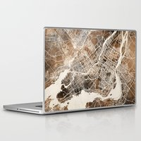 montreal Laptop & iPad Skins featuring Montreal by Map Map Maps
