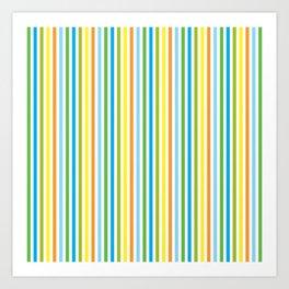 Colourful Pinstripes Art Print