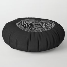 What to focus on - Happy (on black) Floor Pillow