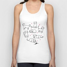 Kitties with Hearts Unisex Tank Top