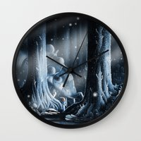 nausicaa Wall Clocks featuring Nausicaa by Roberto Nieto