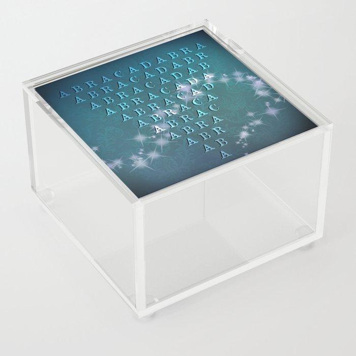 Abracadabra Reversed Pyramid in Turquoise Acrylic Box