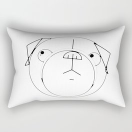 Pug Crop Cirlces Rectangular Pillow