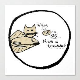 Cat Trouble Canvas Print