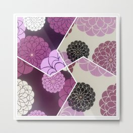 Pink Cimetric flowers Metal Print