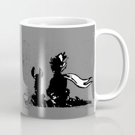 The LITTLE PRINCE and the FOX quote - stencil - grey version Coffee Mug