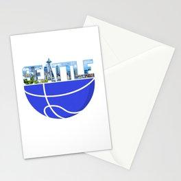 Basketball Seattle Washington USA Seaport City Seattle West Coast  Puget Sound Pacific Northwest Stationery Cards